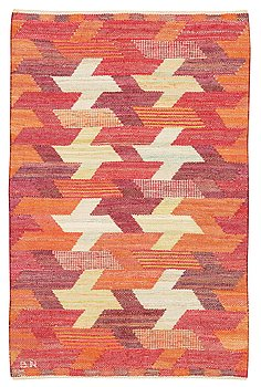 468. Barbro Nilsson, A TEXTILE. tapestry variant. 71,5 x 47 cm. Signed BN.