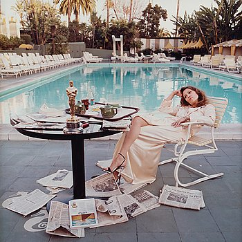 "264A. Terry O'Neill, ""Faye Dunaway, Hollywood, 1977""."