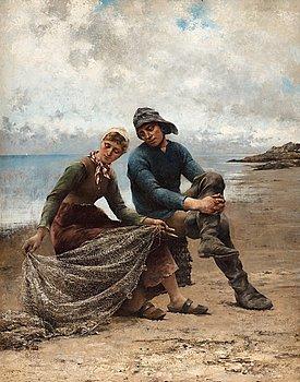 901. August Hagborg, On the beach.