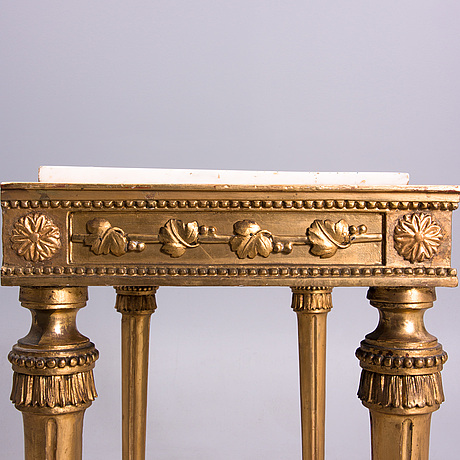 A console table, gustavian late 18th century, possibly finland