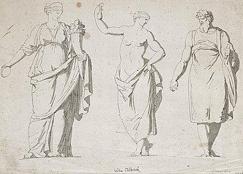 1132. Louis Masreliez, Skulpturer från Villa Albani, Rom.