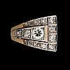 A ring, brilliant and old cut diamonds, 14k gold. birger wilhelm nordström, helsingfors 1953 1970