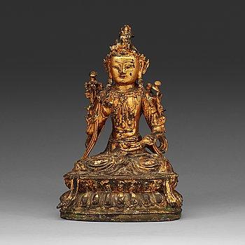 3. A gilt bronze bodhisattva, Ming dynasty (1368-1644).