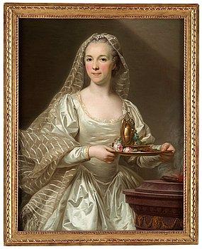 1016. Alexander Roslin, Porträtt sannolikt föreställande Mlle Bourgevin de Linas, framställd som vestal.