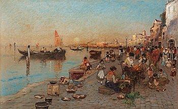 914. WILHELM VON GEGERFELT, Scene from Venice.