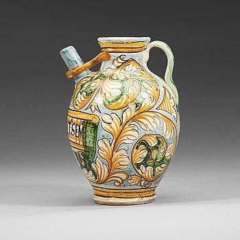 1339. APOKTEKSKRUS, majolika. Castelli, Italien, 1600-tal.