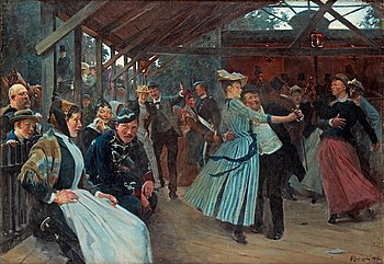 "994A. Erik Henningsen, ""Dansbanan"" (The dance pavillion)."