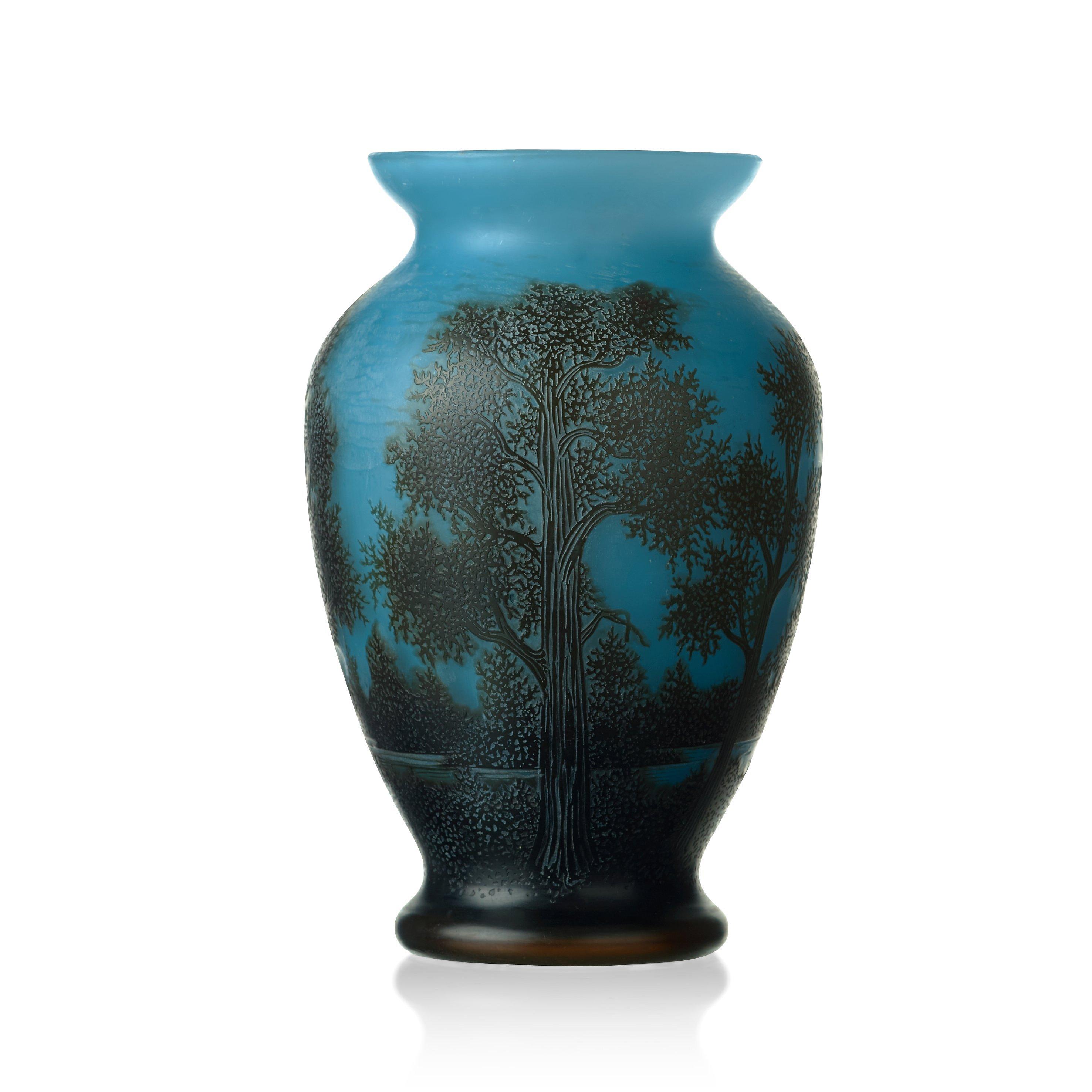 AXEL ENOCH BOMAN An Art Nouveau Cameo Glass Vase Reijmyre 1917