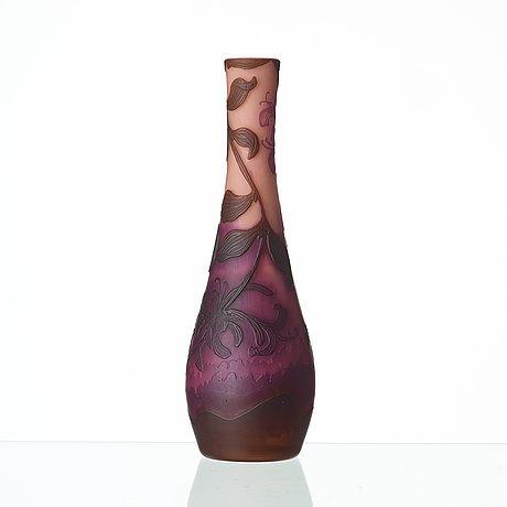 Axel enoch boman, an art nouveau cameo glass vase, reijmyre 1916.