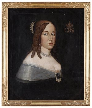 """229. DAVID BECK, """"Drottning Kristina"""" (1626-1689)."""