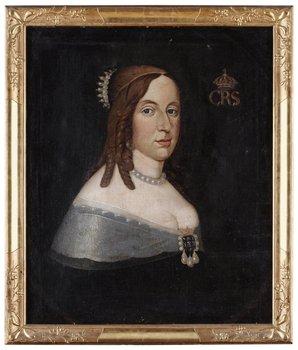 "229. DAVID BECK Äldre kopia efter. ""Drottning Kristina"" (1626-1689)"