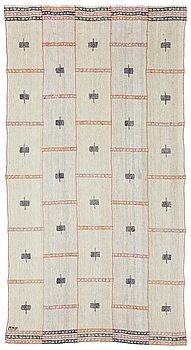 """472. Märta Måås-Fjetterström, A DRAPE, """"Gul våd"""", flat weave, 212,5 x 114,5 cm, signed MMF."""