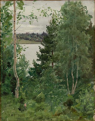 Felix frang-pahlama, grÖnskande landskap.