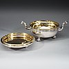 A swedish 17th century parcel-gilt bowl and cover, friedrich richter (stockholm 1668-1700-). before 1689.