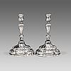 A pair of swedish 18th century silver candlesticks, anders schotte, uddevalla.