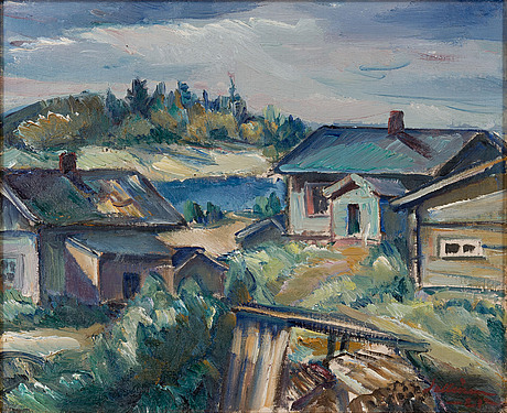Tyko sallinen, motif from the country side