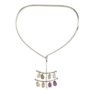 42. Vivianna Torun Bülow-Hübe, a silver necklace with pendant, executed in her own workshop, Stockholm 1964.