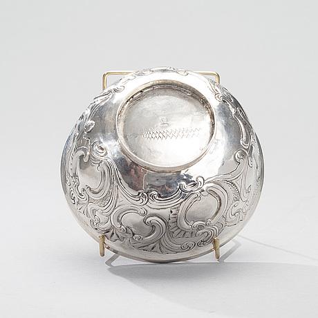 SkÅl, silver, wiborg, carl christian forsman, gjord 1753 1758