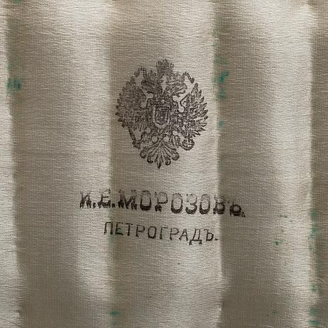 Skedar 12 st, silver och emalj, moskva 1914 17, nikolai zverev för hovjuvelerare morosov