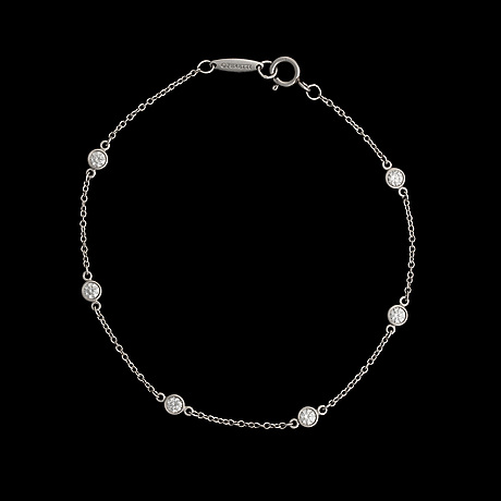 Armband, elsa peretti, tiffany & co. platina, briljantslipade diamanter.