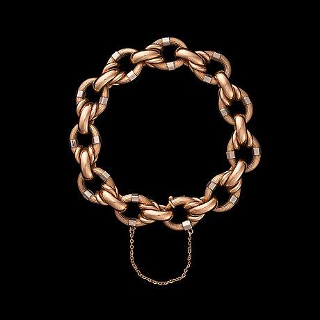 Armband, 18k guld, troligen italiensk. vikt ca 30 g.