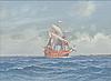 Adolf bock, vessel at sea.