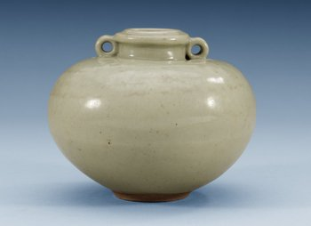 A Longquan celadon pot, 14/15th Century. Height 10 cm.