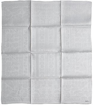 419. NAPKINS, 24 pieces (as well as 12 unmangled pieces with the same pattern). Linen damask. Wadstena Fabrik, Sweden,
