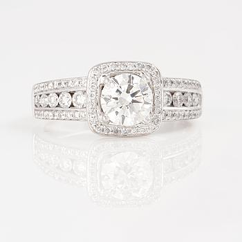 RING, med briljantslipade diamanter, totalt ca 1.62 ct.