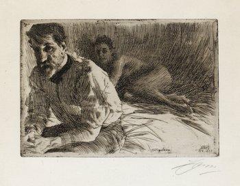 "153. Anders Zorn, ""August Saint Gaudens II""."