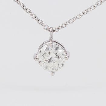 DIAMANTGRADERING, HÄNGE MED KEDJA, solitär briljantslipad diamant 1.00 ct.