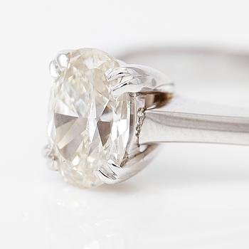 DIAMANTGRADERING, RING, solitär oval briljantslipad diamant 1.09 ct.