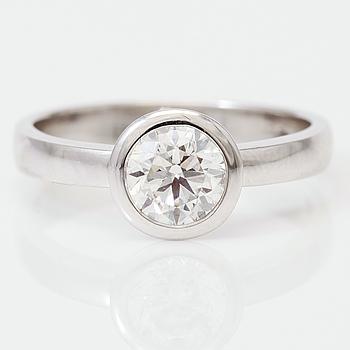 DIAMANTGRADERING, RING, solitär briljantslipad diamant 1.00 ct.