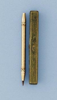 560. PENNA, guld 18k à deux couleur, oidentifierad mästarstämpel P F, Stockholm 1792.