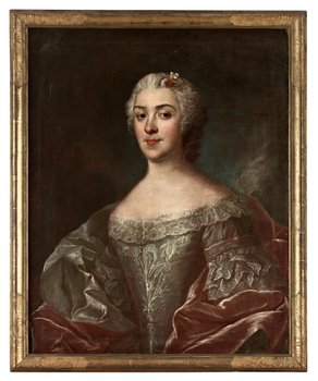 """233. OLOF ARENIUS, """"Grevinnan Kristina Horn af Åminne"""" (1714-1772)."""