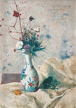 643. Karl Nordström, Still life with flowers.