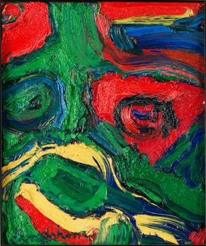 2. BENGT LINDSTRÖM, Rött och grönt ansikte.