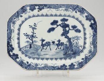 8. STEKFAT, kompaniporslin. Qing dynastin, Qianlong (1736-95).