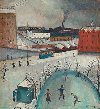 """15. Eric Hallström, """"Skridskobanan"""" (från Söder)."""