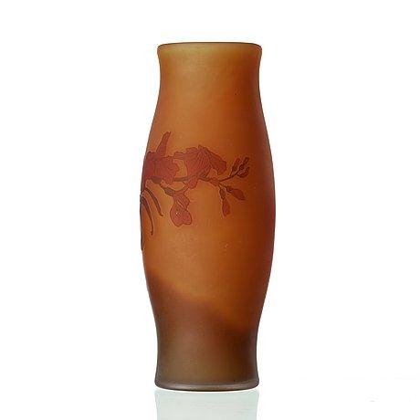 Fritz blomqvist, an art nouveau cameo glass vase, orrefors, sweden 1915-16.