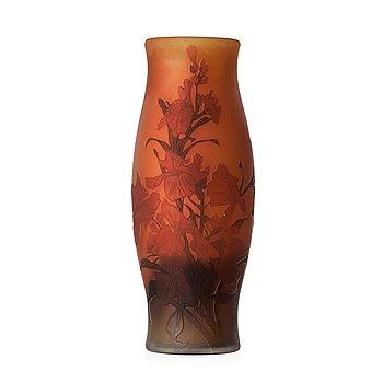 53. FRITZ BLOMQVIST, an Art Nouveau cameo glass vase, Orrefors, Sweden 1915-16.
