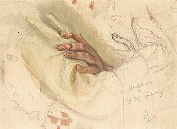 """409. Richard Bergh, """"Handstudier till Gustaf Fröding"""" (study)."""