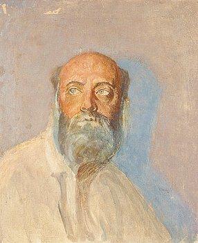 "410. Richard Bergh, ""Skiss till Frödingporträttet"" (Study for the Fröding portrait)."