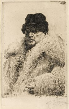 "156. Anders Zorn, ""Self-portrait 1916""."
