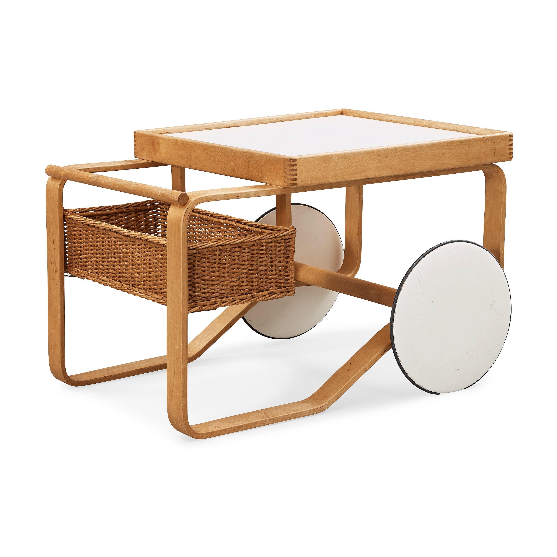 Design Alvar Aalto.Alvar Aalto A Birch Serving Trolley Made By Aalto Design