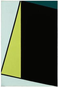 172. Olle Baertling, Komposition i grönt och svart.