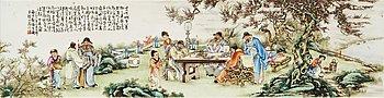 273. PLAKETT, porslin. Kina, 1900-tal.