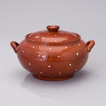 MARITA LYBECK, SOPPTERRIN, keramik, signerad ML.