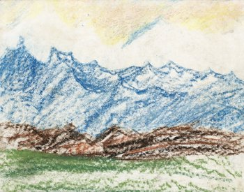 85. Carl Fredrik Hill, Blånande berg.
