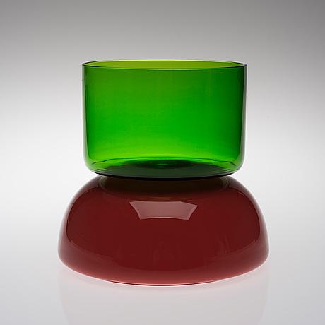 Ettore sottsass, glasskulptur. sign. venini 2003 ettore sottsass